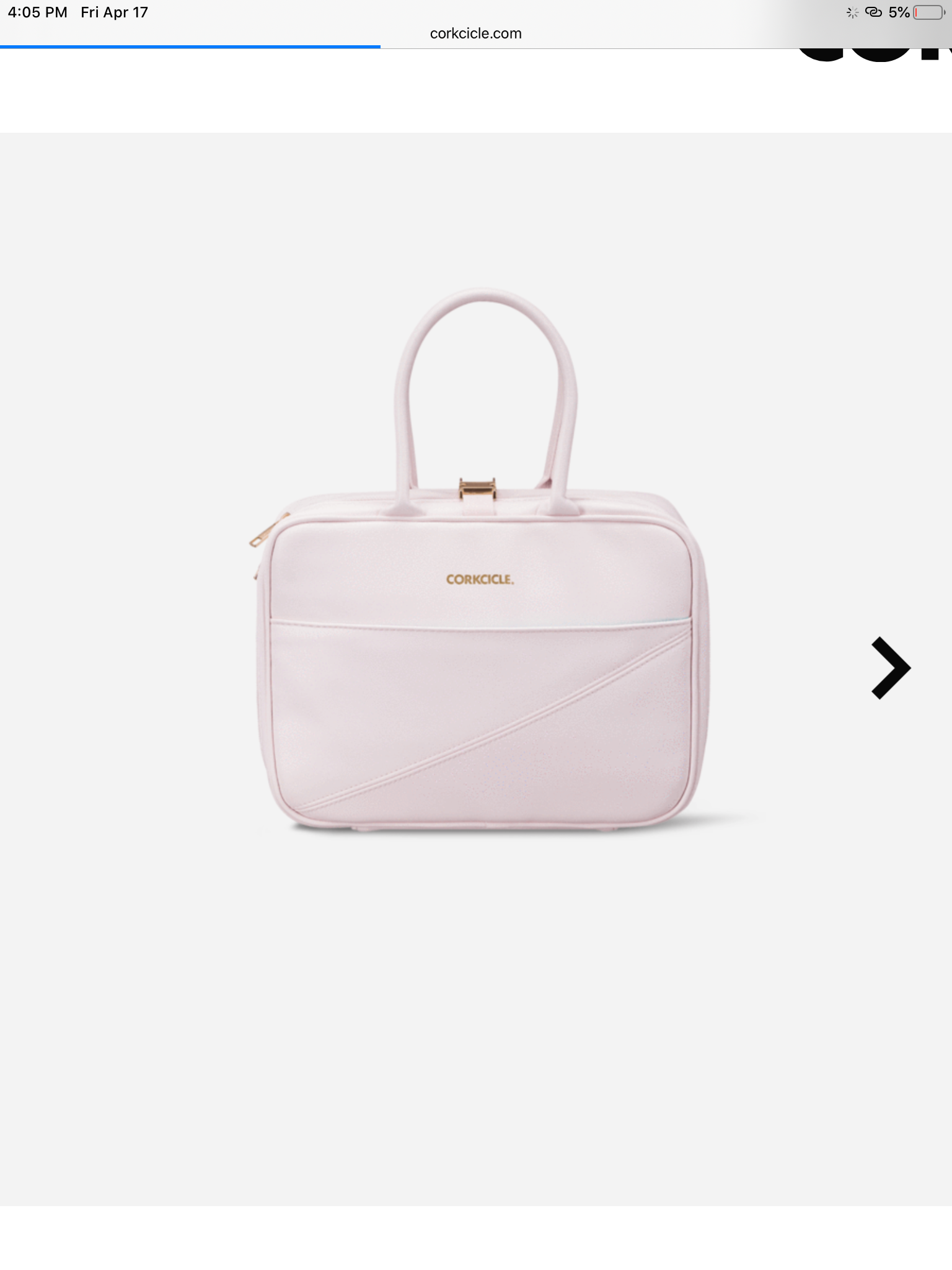 Corkcicle pink lunch tote