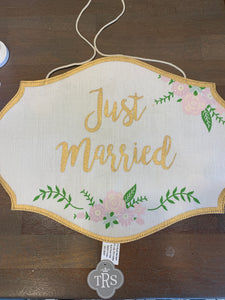 Just Married/ here comes the bride sign
