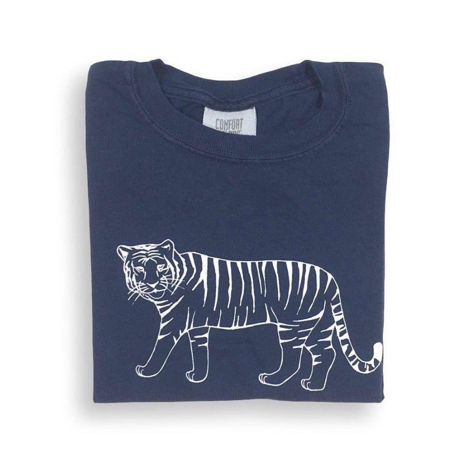 Honey a Bee blue tiger tee