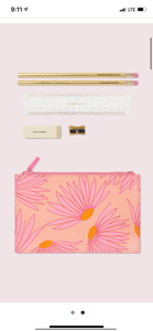 Kate Spade Falling Flower Pencil Pouch