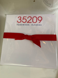 35209 navy/red notepad