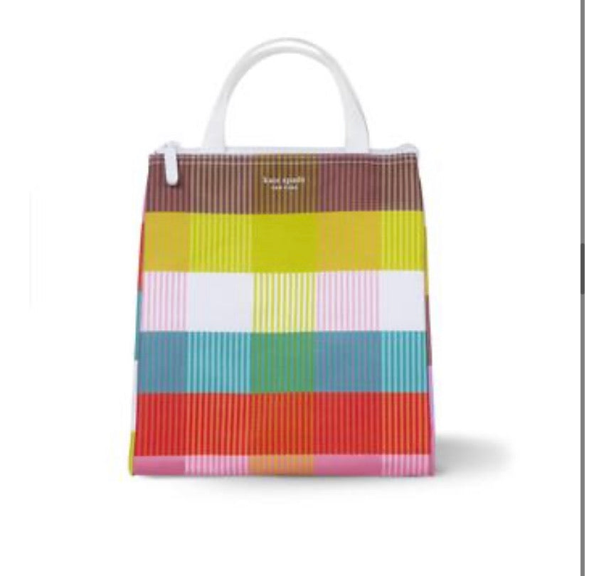 Kate space lunch tote- plaid