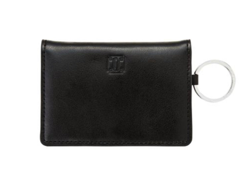 Oventure black leather ID case