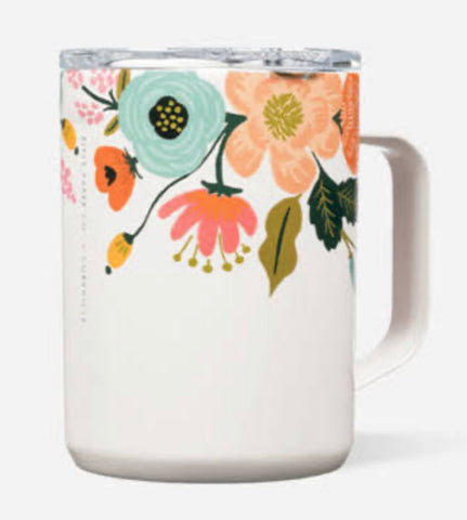 Rifle lively floral gloss cream Corkcicle mug