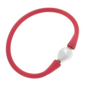 Pearl Silicone Bracelet Pink