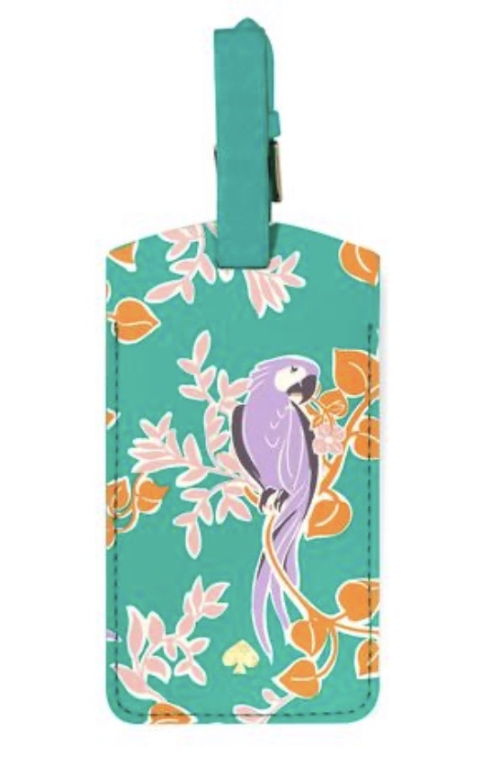 Kate Sade is luggage tag- bird party