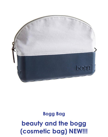 Bogg navy cosmetic bag