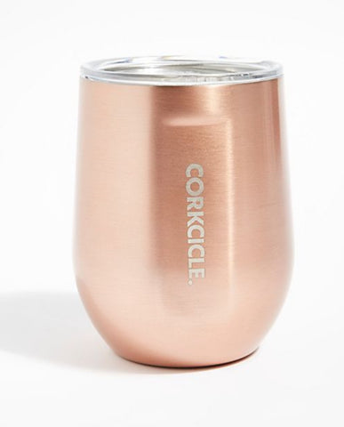 Copper stemless 12oz corkcicle