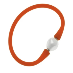 Pearl Silicone Bracelet Orange