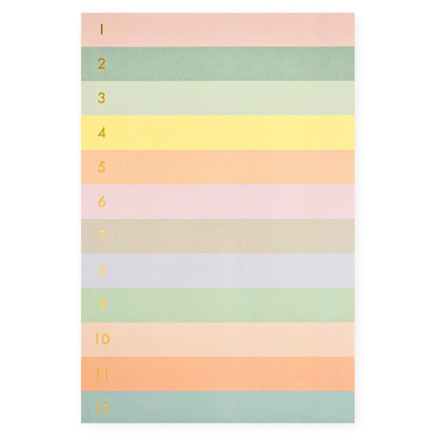 Rifle paper color rainbow notepad