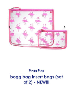 Bogg bag clear flamingo insert