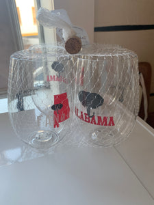 Wine-oh Alabama stemless set of 4