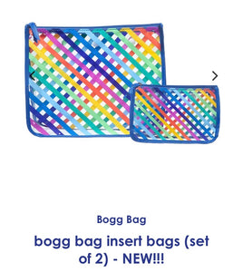 Bogg bag clear striped insert
