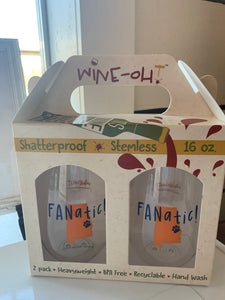 Wine-oh Fanatic stemless set of 2
