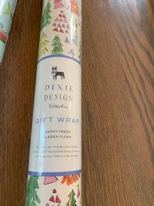 Dixie design happy tree wrapping paper