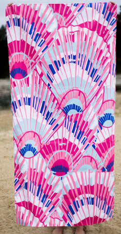 Seashell pink beach towel