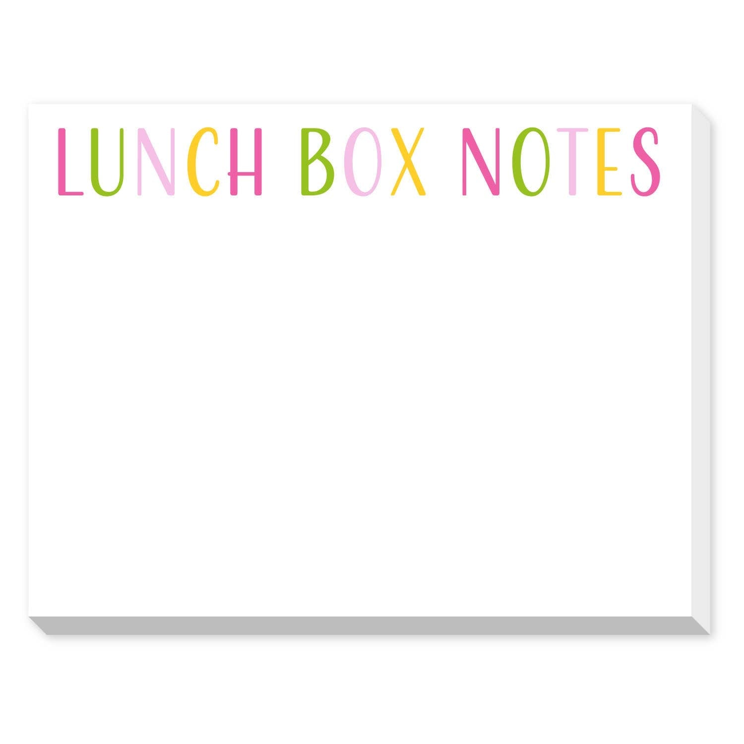 Pastel Lunchbox Notes