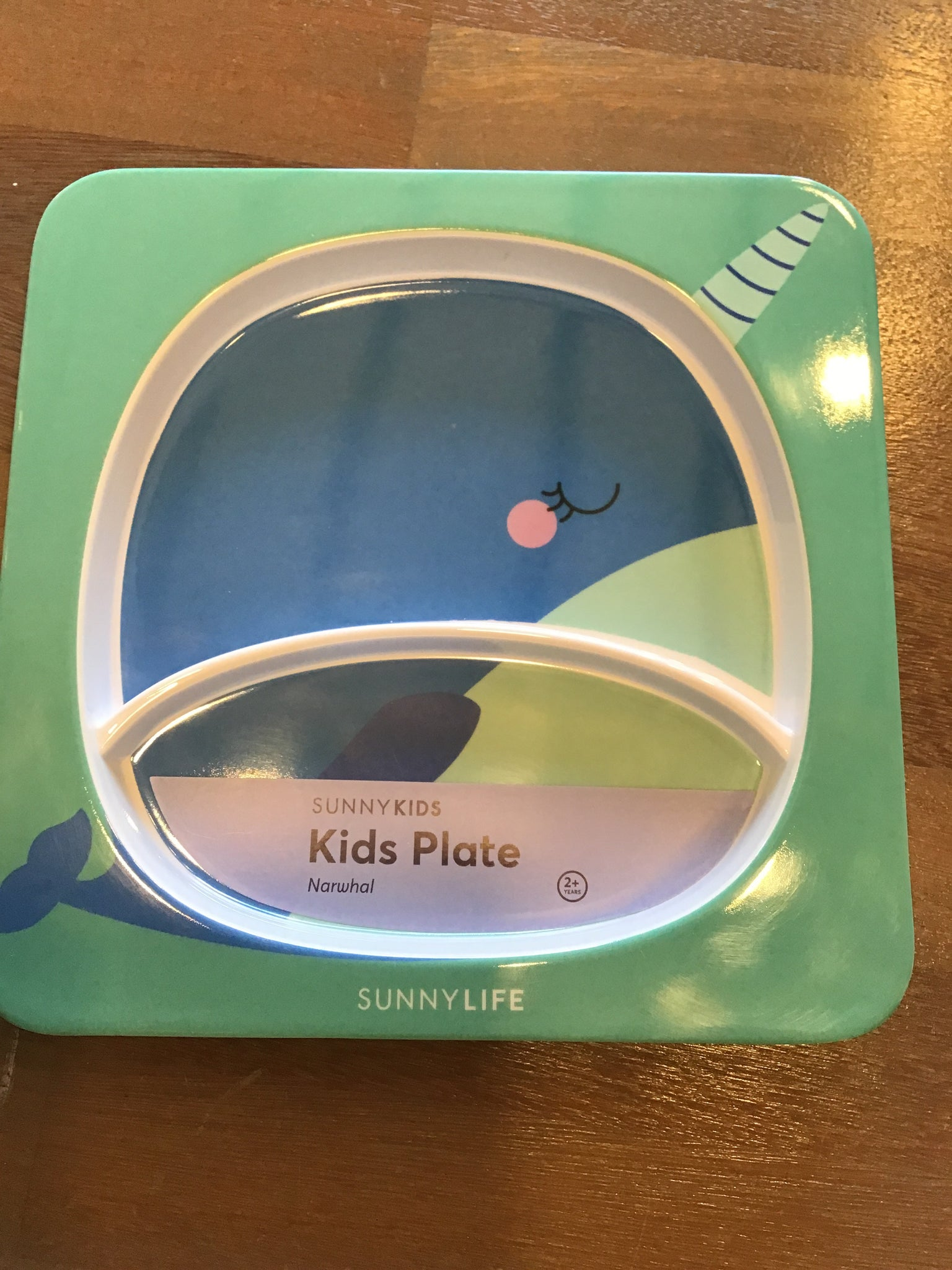 Kids narwhal plate