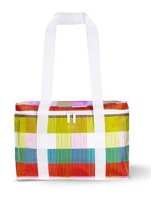 Kate spade plaid rainbow cooler bag