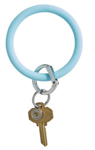 Rubber oventure light Carolina  blue keyring