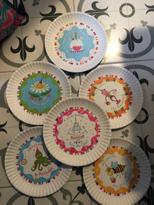 Happy birthday plates each melamine