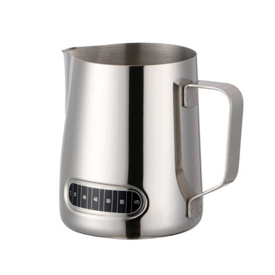 600ml Stainless Steel Milk Jug with built in thermometer.