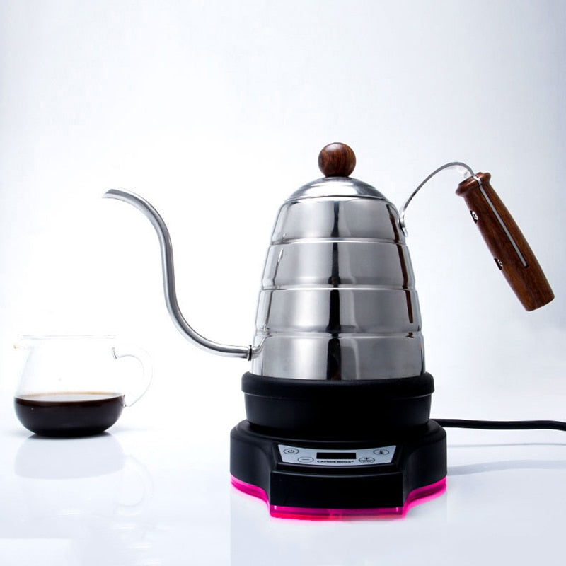 electric pour over kettle with thermometer