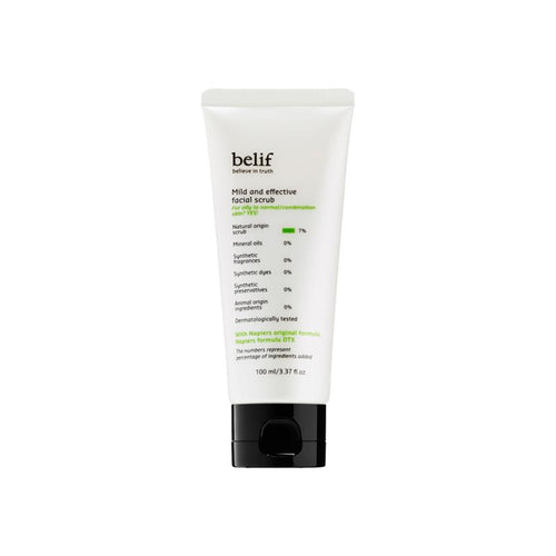 Mild and effective face scrub - belifusa