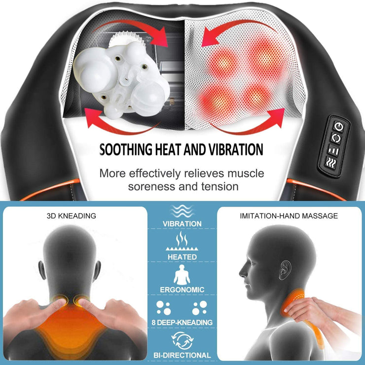 Shiatsu Neck and Shoulder Back Massager with Heat