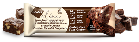 NuGo Slim Brownie Crunch (Barre simple)