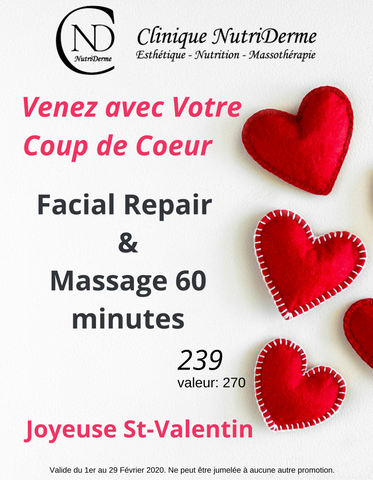 Facial Repair  & Massage 60 minutes