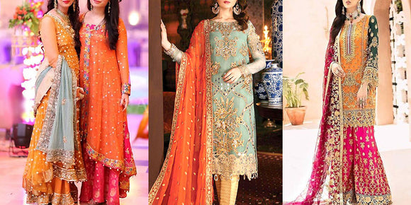 Formal Chiffon Party & Wedding Dresses in Pakistan