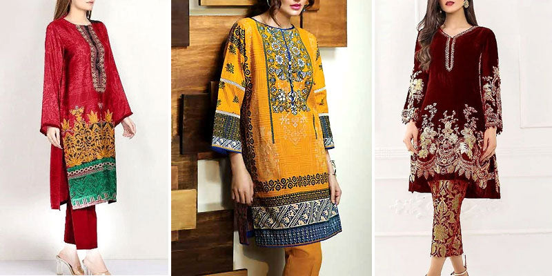 Women's Winter Dresses in Pakistan
