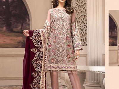 Embroidered Chiffon Wedding Dress (DZ12139)