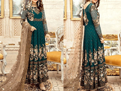 Imrozia Replica Embroidered Chiffon Wedding Dress (DZ12251)