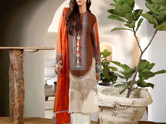 Embroidered Khaddar Dress (DZ12530)