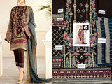Embroidered Fancy Chiffon Dress (DZ12587)
