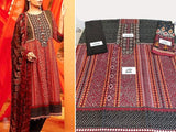 Edenrobe Replica Traditional Embroidered Lawn Dress (DZ12726)