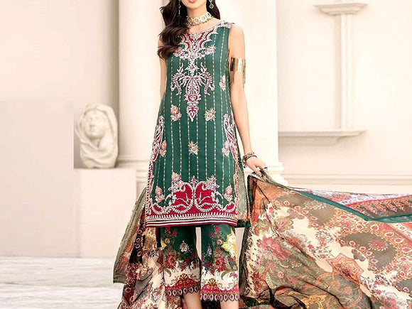 Noor By Saadia Asad Replica Embroidered Airjet Lawn Dress (DZ12924)