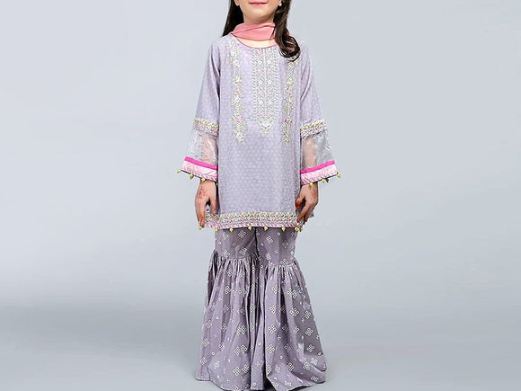 Maria B Replica Kids 2-Pcs Embroidered Lawn Suit (DZ12949)