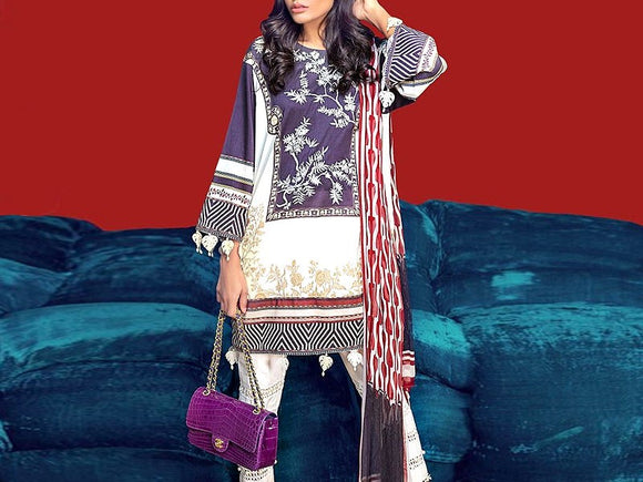 Sana Safinaz Replica Embroidered Airjet Lawn Dress (DZ12963)