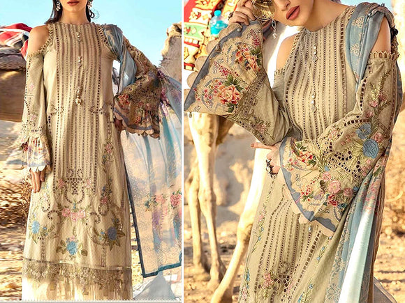 Maria B Replica Embroidered Lawn Dress (DZ12967)