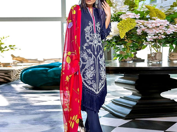 Sana Safinaz Replica Embroidered Lawn Suit (DZ12986)