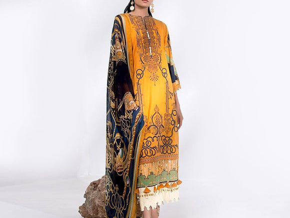 Sapphire Replica Embroidered Lawn Dress (DZ12988)
