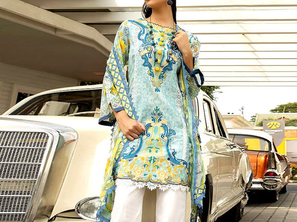 Ittehad Replica Embroidered Masoori Lawn Dress (DZ12994)