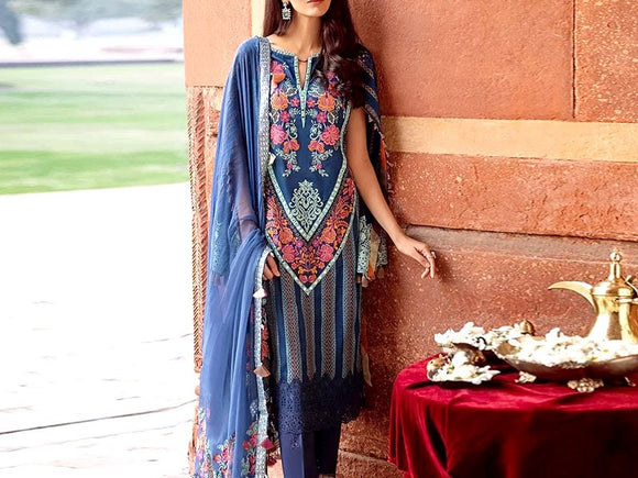 Embroidered Masoori Lawn Dress (DZ12995)