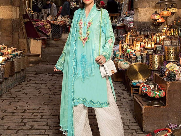 Maria B Replica Embroidered Lawn Dress (DZ13005)