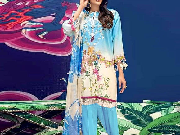 Sana Safinaz Replica Embroidered Lawn Suit (DZ13008)