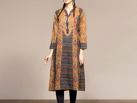 Nishat Linen Replica Embroidered Lawn Suit (DZ13066)
