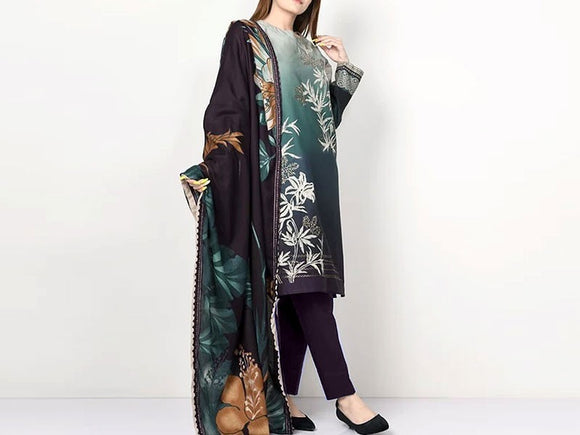 Embroidered Lawn Dress (DZ13073)